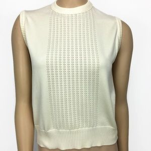 Givenchy Sport Cream Sleeveless Knit top